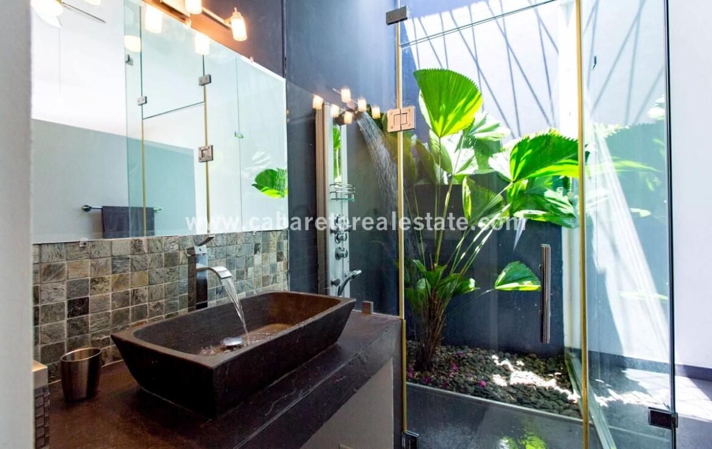 luxury bathroom in this masterbedroom of this modern bali style villa in cabrera dominican republic 2