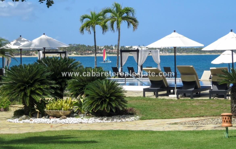 pool cabarete dominican republic oceanfront sunset views outdoor patio beach bay 1