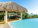 pool infinity ocean view palapa seating outdoor cabrera dominican republic 1