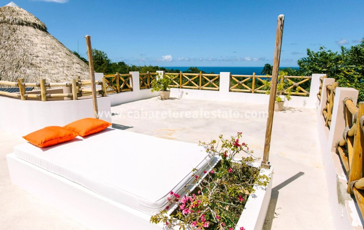 roof rooftop lounging ocean views incredible beauty nature jungle home cabrera dominican republic 1
