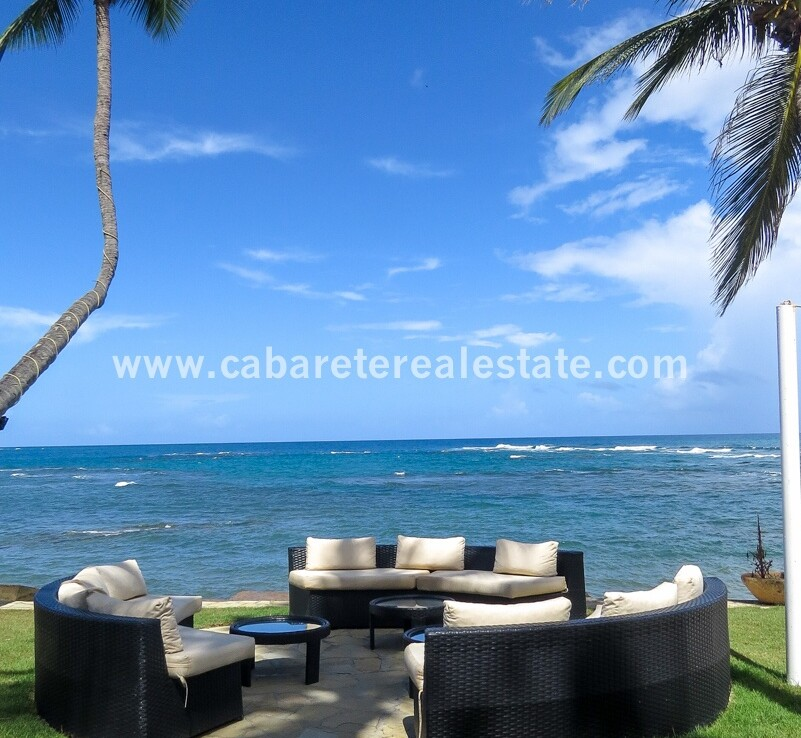 view ocean patio deating dining drinks restaurant kiteboarding sailing fishing cabarete dominican republic oceanfront 1