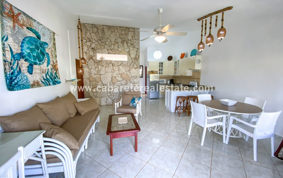 East Cabarete Beachfront Apartment dominican republic kitchen family dining