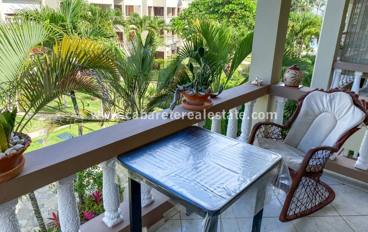 balcony seating furniture view ocean East Cabarete Beachfront Apartment dominican republic