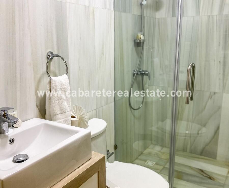 bathroom shower tile vanity modern cabarete oceanfront luxury aparthotel