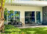 cabarete oceanfront luxury aparthotel patio dining outdoor relax view ocean