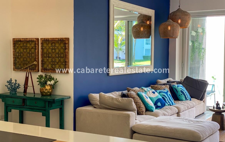 contemporary modern kitchen family living cabarete oceanfront luxury aparthotel
