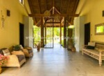 entry foyer grand open guests visitors family Cabarete luxury villa deal