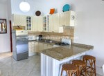 kitchen bar appliances refrigerator new remodeled East Cabarete Beachfront Apartment