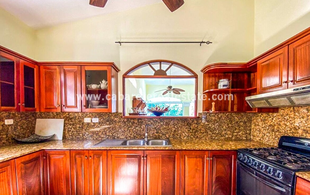 kitchen granite dominican republic cabarete new appliances cabinets spacious family villa encuentro