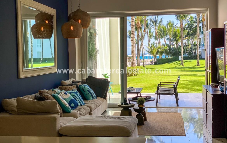 ocean view oceanfront outdoors comfortable livingroom kitchen cabarete oceanfront luxury aparthotel