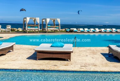 pool captivating kitboarding lounge ocean dominican republic cabarete oceanfront luxury aparthotel