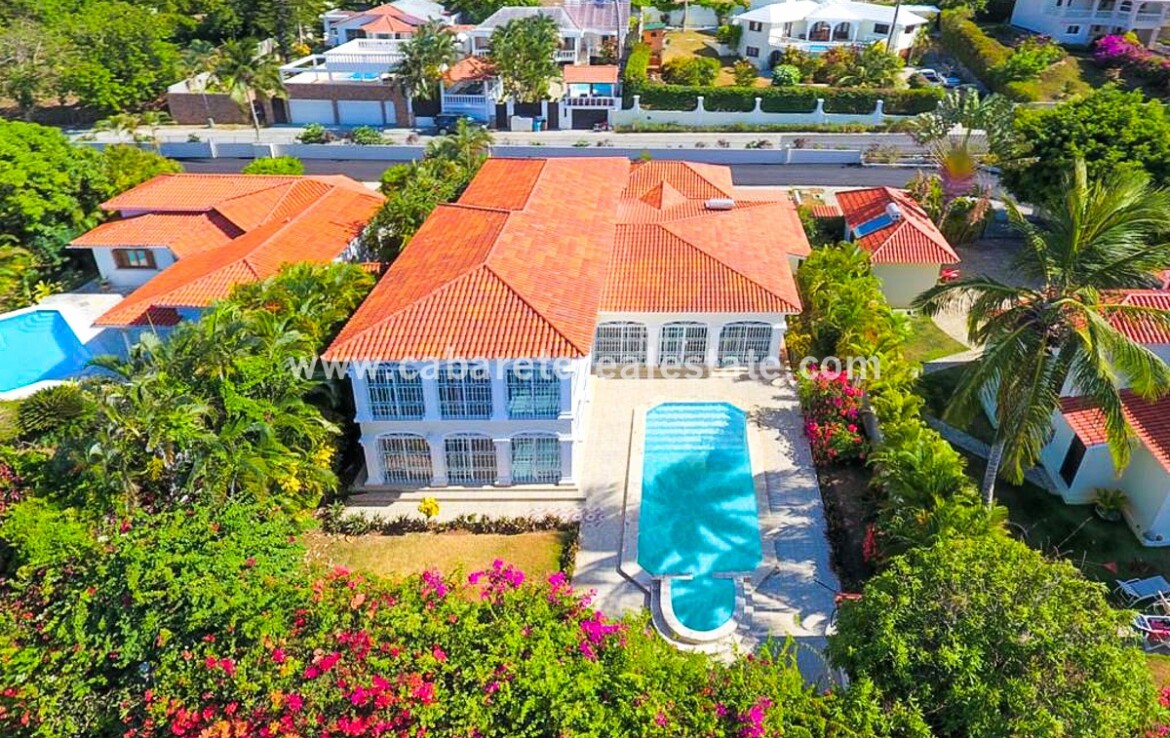 pool houe private yard open ocean cabarete dominican republic spacious family villa encuentro