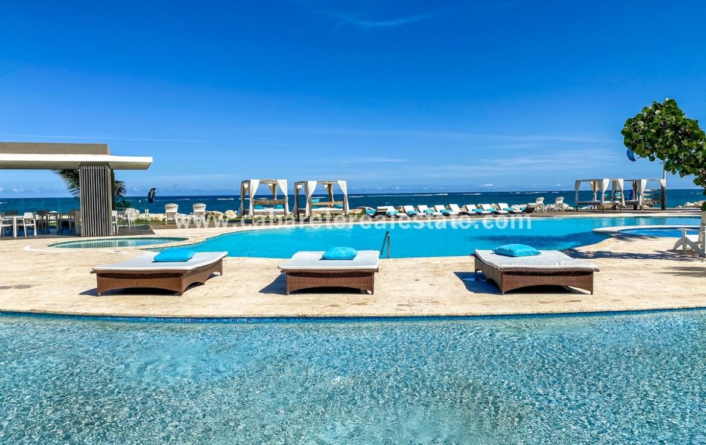 pool ocean seaside oceanside beach beachfront cabarete oceanfront luxury aparthotel