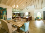 dining living entertain eat drink family vaulted fans spectacular Cabarete Caribbean Villa dominican republic