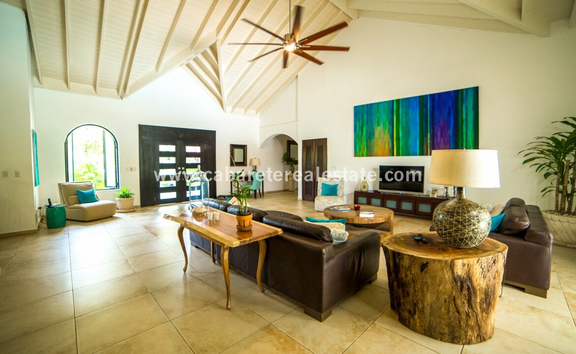 entrance entry fan furniture furnished spectacular Cabarete Caribbean Villa dominican republic