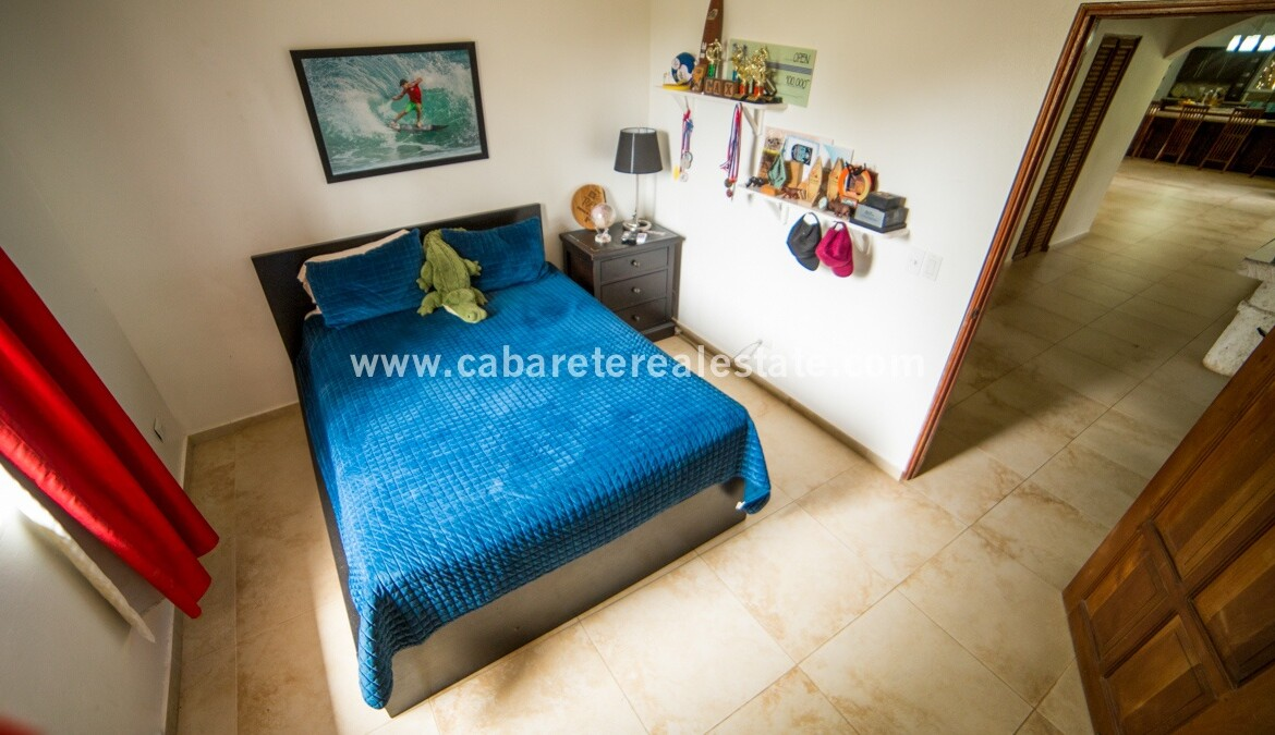 guest bed bedroom family kids ac fan spectacular Cabarete Caribbean Villa dominican republic