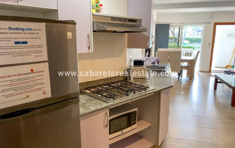 kitchen stove modern view pool ocean beach comfortable contemporary Cabarete condo