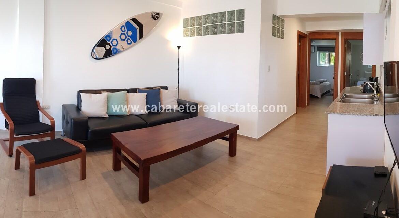 living kitchen ocean view comfortable contemporary Cabarete condo