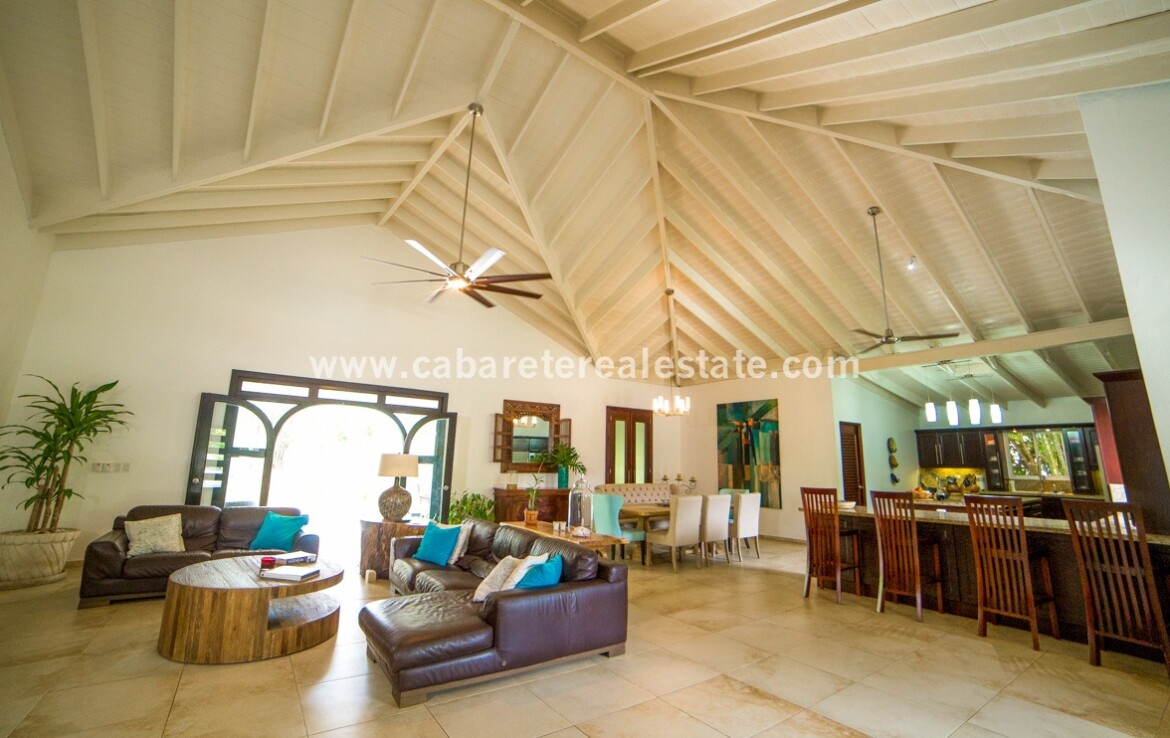 patio family dining kitchen great room rooms open spectacular Cabarete Caribbean Villa dominican republic