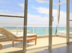 patio ocean view oceanfront comfortable contemporary Cabarete condo dominican republic
