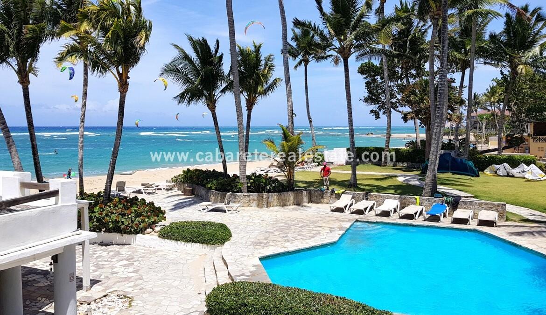 pool ocean walk kite surf restaurant comfortable contemporary Cabarete condo