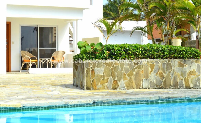 pool view ocean beach patio comfortable contemporary Cabarete condo
