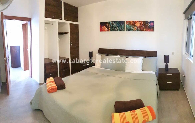 room closet queen ac beach ocean kiting comfortable contemporary Cabarete condo
